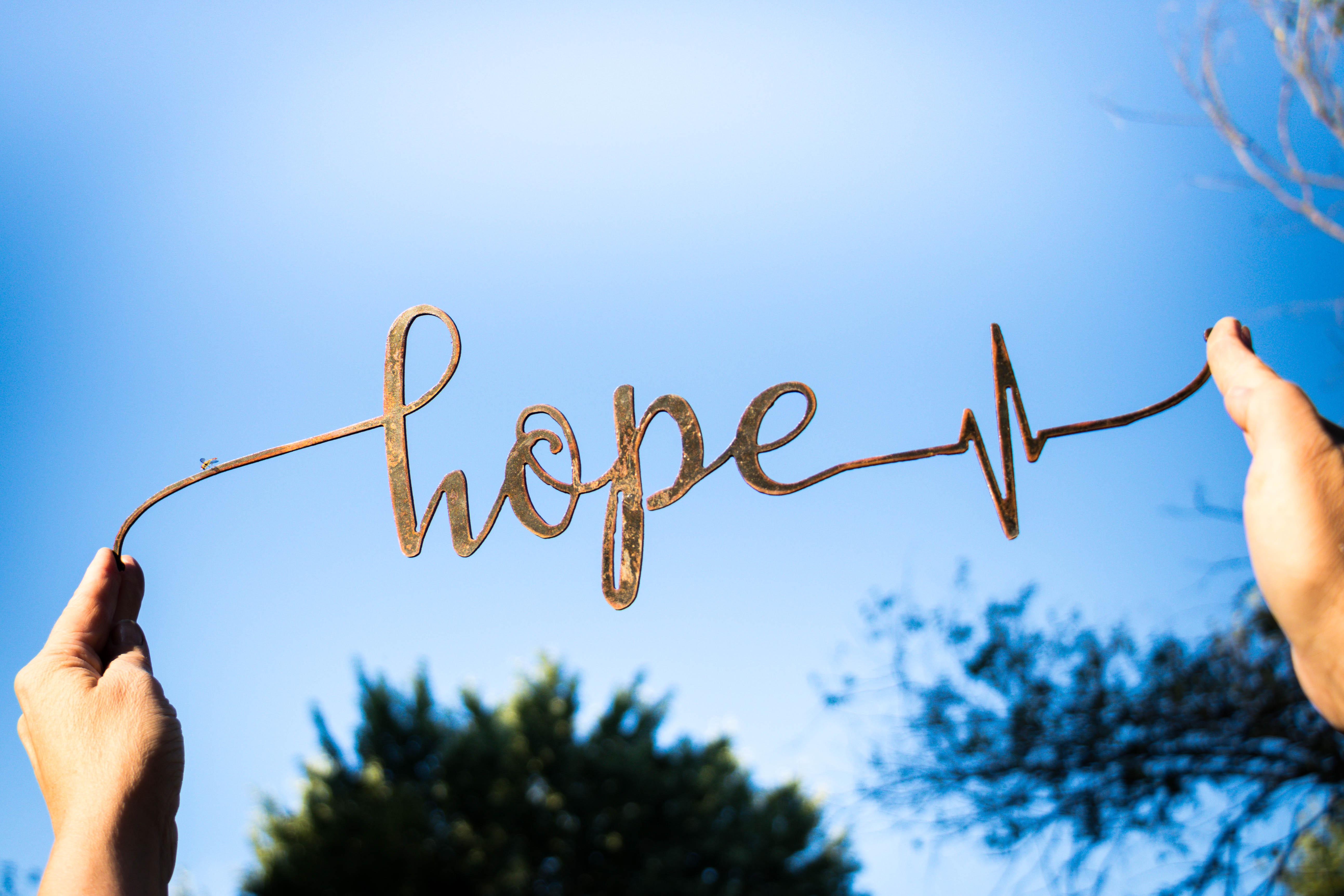 Faith Hope Love Metal Wall Art Signs