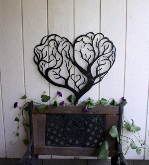 Tree of Love Metal Wall Art Sign-3