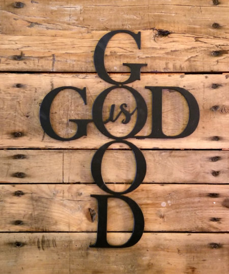 God is Good, 14 inch Inspirational Metal Wall Art