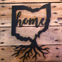 Ohio Roots | Home in Ohio | 10 inch Metal Wall Art
