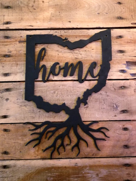 Ohio Roots | Home in Ohio | 13 inch Metal Wall Art