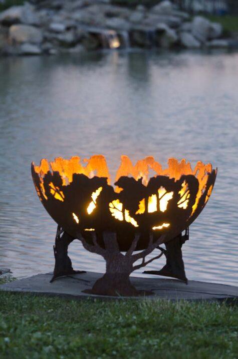 forest firepit bowl