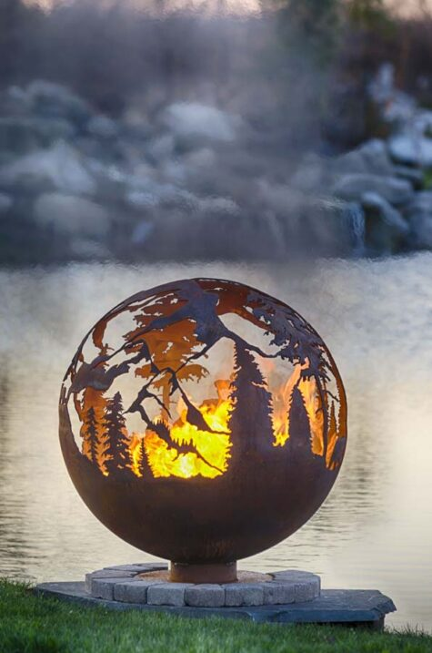 full view - mountain firepit