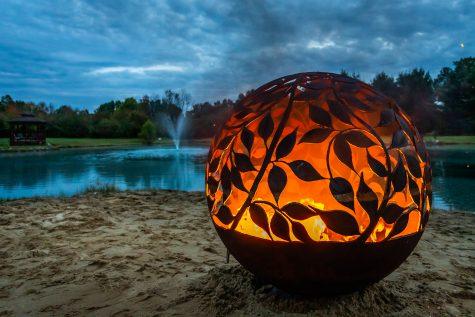 Eden fire pit by lake