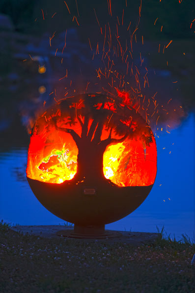 tree of life at night - firepit