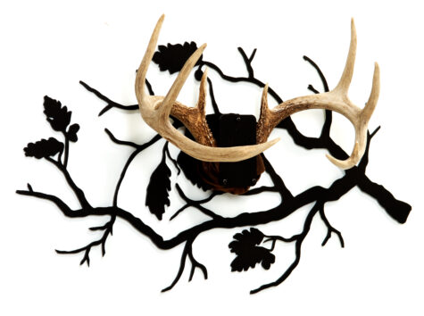 side-view-oak-branch antler mount kit
